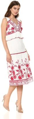 Jax Women's Embroidered V-Neck Dress