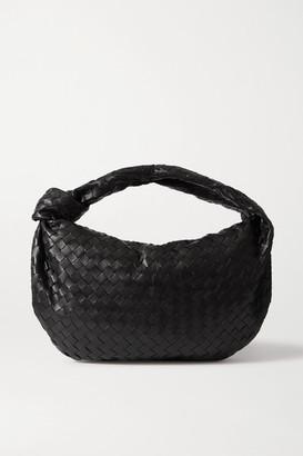 Bottega Veneta Jodie Small Knotted Intrecciato Leather Tote - Black