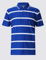 Mercerised Cotton Striped Polo