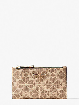 Kate Spade Spade Flower Coated Canvas Small Slim Bifold Wallet