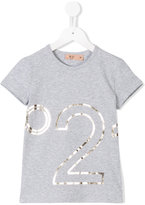 No21 Kids - logo print T-shirt - kids - Cotton/Spandex/Elastane - 8 yrs