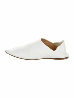 Acne Studios Leather Mules White