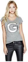 G by Guess GByGUESS Women's Kiandra Heathered Logo Tee