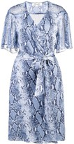 Snakeskin-Print Wrap Dress