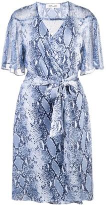 Dvf Diane Von Furstenberg Snakeskin-Print Wrap Dress