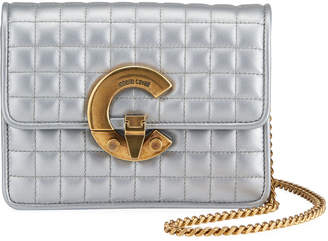 Roberto Cavalli Metallic Quilted Convertible Belt Bag