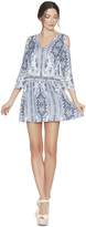 Alice + Olivia Jolene Cold Shoulder Smocked Waist Dress