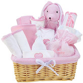 Trend Lab Pink Deluxe Basket 12-Piece Feeding Gift Set
