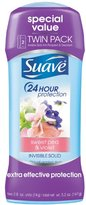 Suave Antiperspirant Deodorant, Sweet Pea and Violet 2.6 oz, Twin Pack