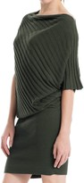 Max Studio Ribbed Asymmetrical Sweater Dress