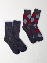 White Stuff Nouveau argyle 2 pack socks