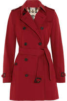 Burberry The Kensington Mid Cotton-gabardine Trench Coat - Red