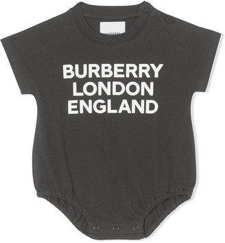 BURBERRY KIDS Logo-Print Organic Cotton Body