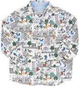"Paul Smith Animal City""-Print Cotton Shirt"