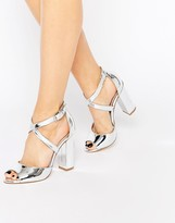 Silver Strap Heels - ShopStyle