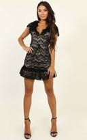 Showpo Thanks A Lot Dress in black lace - 6 (XS) Dresses