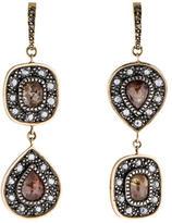 Moritz Glik 18K Sterling Diamond Drop Earrings