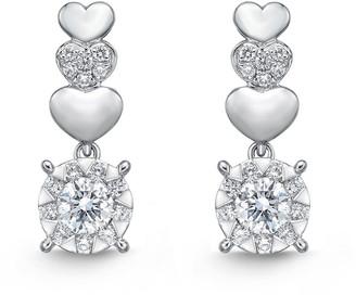 Memoire 18K 0.36 Ct. Tw. Diamond Bouquet Drop Earrings