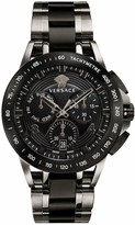 VERSACE Versace Sport Tech Black and Grey Detail Chronogragh Dial Grey and Black IP Stainless Steel Bracelet Mens Watch
