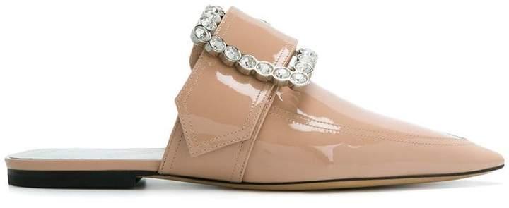 Maison Margiela embellished buckle slippers