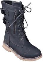Black Buckle Combat Boot