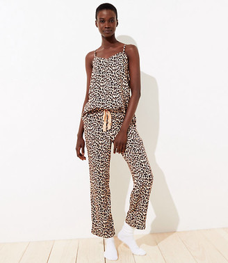 LOFT Leopard Print Pajama Set