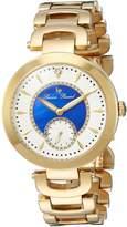 Lucien Piccard Women's 'Casablanca' Quartz Stainless Steel Casual Watch, Color:Gold-Toned (Model: LP-10268-YG-22-BLA)