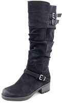 White Mountain Block Round Toe Synthetic Knee High Boot.