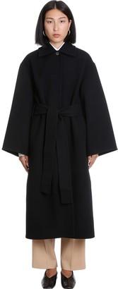 Jil Sander Neha D8 Coat In Black Wool