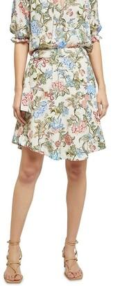 Oxford Mariella Chintz Print Skirt Brown