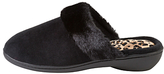totes Heeled Pillowstep Mule Slippers, Black