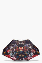 ALEXANDER MCQUEEN Oversize Floral Printed Silk De Manta Clutch