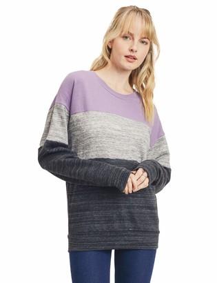 Esstive Women's Ultra Soft Fleece Basic Lightweight Casual Solid Crew Neck Sweatshirt