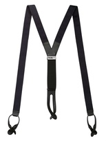 Grosgrain And Leather Suspenders