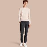 Burberry Slim Fit Cotton Silk Donegal Tweed Chinos