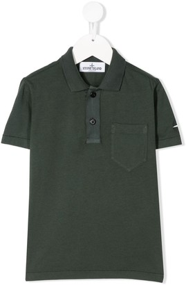 Stone Island plain short-sleeved polo shirt