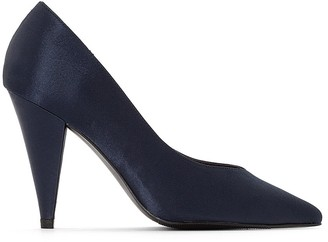 La Redoute Collections Satin High Heels with Pointed Toes