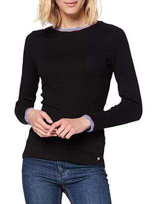 Tom Tailor Women's Langarmshirt Mit Streifen T-Shirt,L