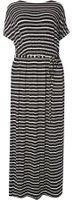 Dorothy Perkins Womens DP Curve Plus Size Jersey Cold Shoulder Maxi Dress- Black