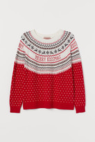 H&M H&M+ Jacquard-knit Sweater