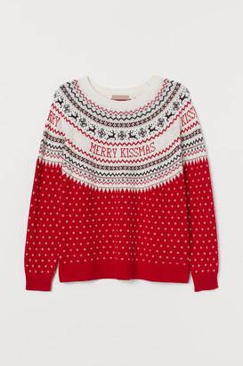 H&M H&M+ Jacquard-knit jumper