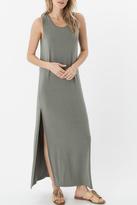 Zsupply Green Slit Maxi Dress