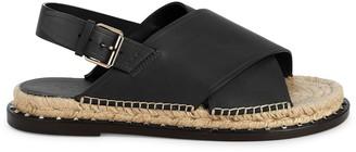 Valentino Leather Stud Sandals