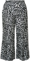 Piamita leopard print cropped pants - women - Silk - XS