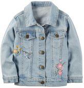 Carter's Girls 4-8 Embroidered Denim Jacket