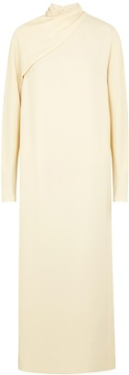 The Row Vali ivory draped maxi dress