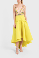 Marchesa Embroidered High-Low Dress