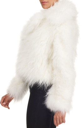Oscar de la Renta Cashmere Goat Fur Jacket