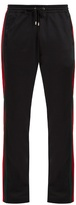Gucci Web-striped mid-rise track pants