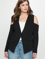 ELOQUII Plus Size Cold Shoulder Blazer